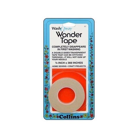 Collins Wash-Away Wonder Tape 1/4in 10yd