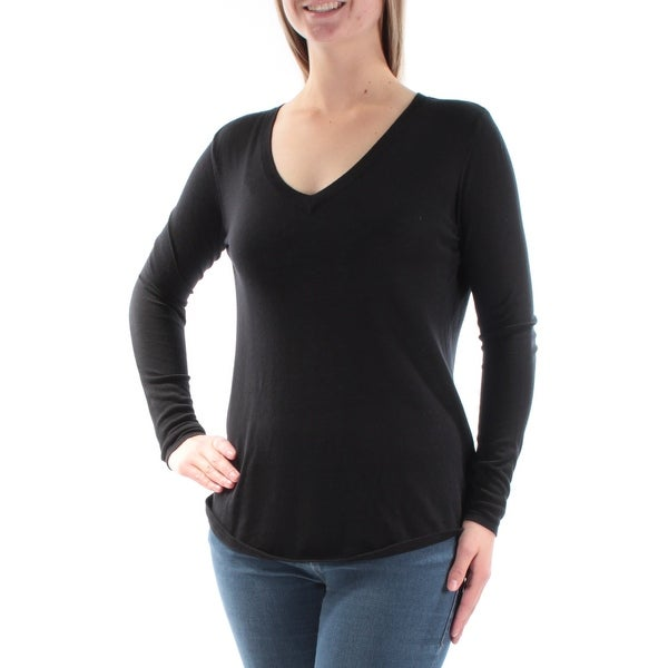 f192e63cc4234 Shop Ralph Lauren Womens Black Long Sleeve V Neck Sweater Size  M - On Sale  - Free Shipping On Orders Over  45 - Overstock - 21240862