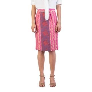 Miu Miu Women's Cotton Blend Floral Print Skirt Gold - 42