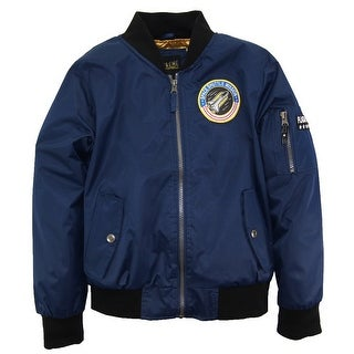 iXtreme Big Boys Poly Twill Flight Midweight Bomber Jacket with Patches