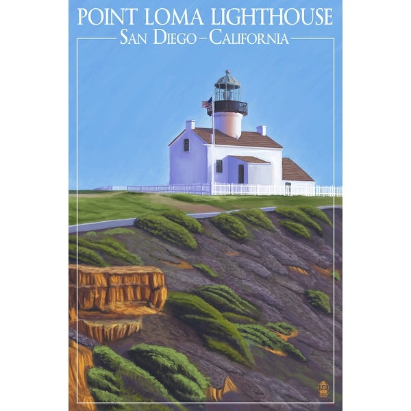 San Diego, CA - Point Loma Lighthouse - LP Artwork (100% Cotton Towel Absorbent)