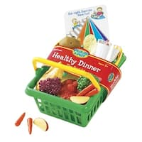 Learning Resources Pretend and Play Healthy Dinner Set, 18 Pieces