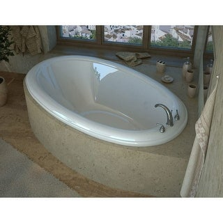 "Avano AV3660PAR Anguilla 60"" Acrylic Air Bathtub for Drop-In Installations with Right Drain - White"