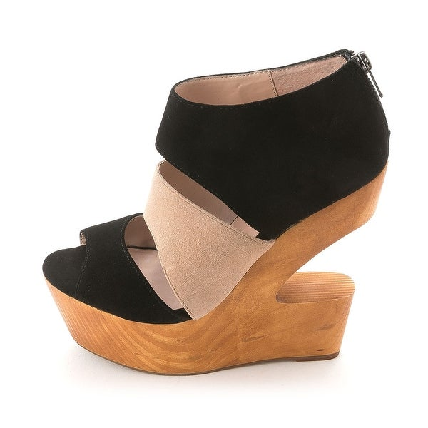 Dolce Vita Womens Julia Suede Open Toe Special Occasion Platform Sandals