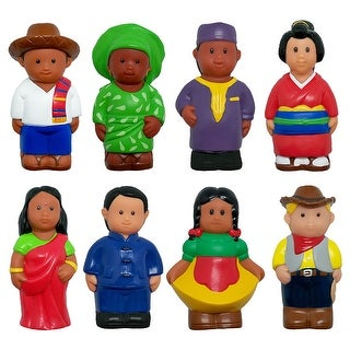 Multicultural Around World Fig 8Pk