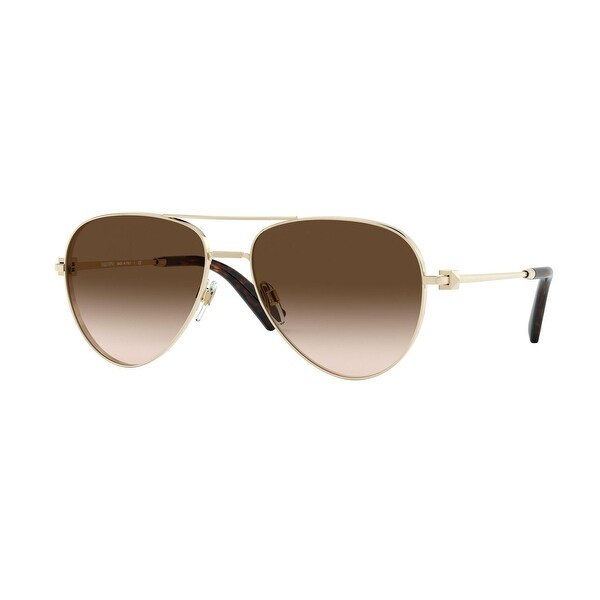 Valentino VA2034 300313 57 Pale Gold Woman Pilot Sunglasses. Opens flyout.