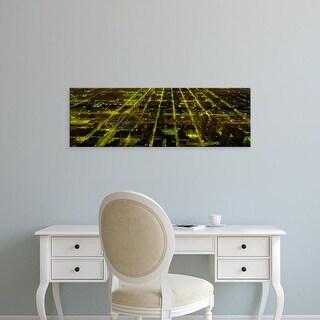 Easy Art Prints Panoramic Images's 'USA, Illinois, Chicago, aerial' Premium Canvas Art