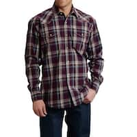 Roper Western Shirt Mens L/S Amarillo Plaid Purple