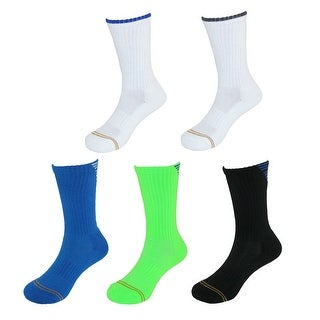 Gold Toe Boy's Stripe Back Crew Socks (5 Pair Pack)