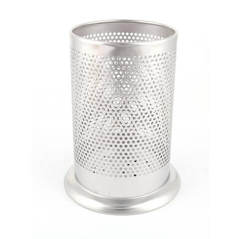 Household Kitchen Metal Tableware Fork Spoon Chopsticks Box Organizer Holder - Silver