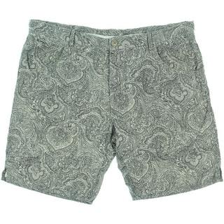 Zara Mens Linen Paisley Walking Shorts - XL