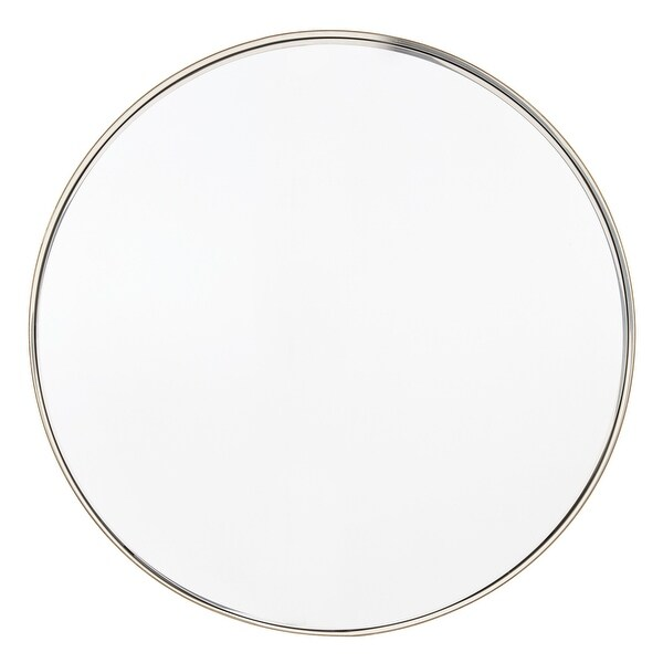 Avery Frame Ledge Round Wall Mirror by iNSPIRE Q Bold. Opens flyout.