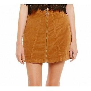 Buffalo David Bitton NEW Brown Women's Size 31 High-Rise A-Line Skirt