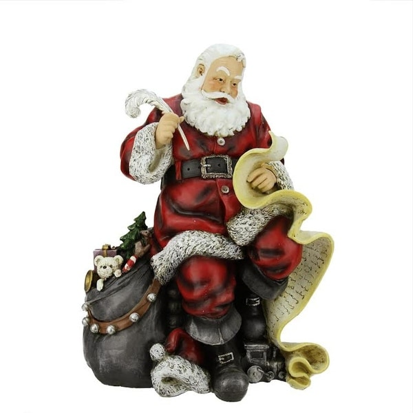 "16.5"" Santa Claus with the Naughty or Nice List Christmas Table Top Figure"