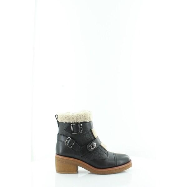 Coach Preston Women's Boots Black/Natural - 8.5