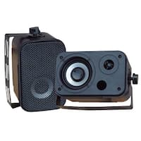 3.5'' Indoor/Outdoor Waterproof Speakers (Black)
