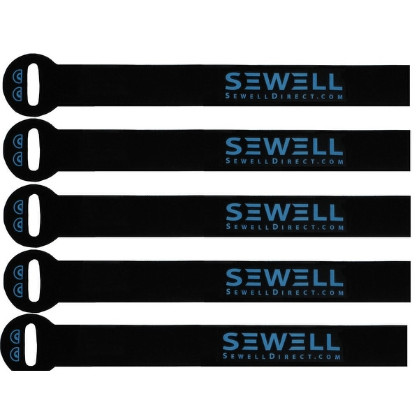 Sewell Velcro Cable Organizers Pack of 6, 7.5 inch length velcro stips