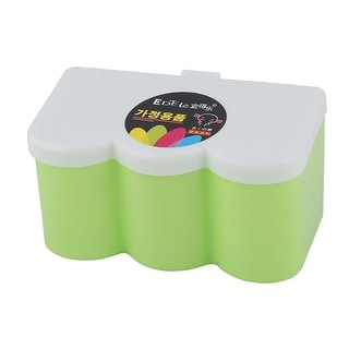 Kitchen Rectangle 3 Compartments Condiment Seasoning Storage Box 6 Inch Long