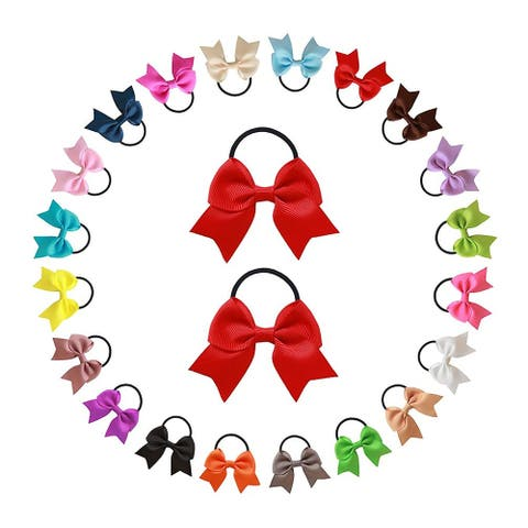 """2.75"""" Elastic Hair Bands Stretch Hair Holder for Baby Girls, 40pcs"""