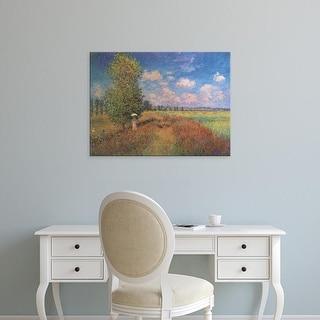 Easy Art Prints Claude Monet's 'Champ de coquelicots' Premium Canvas Art