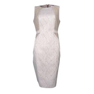 Calvin Klein Women's Mix Media Jacquard Sheath Dress (Option: 16w)