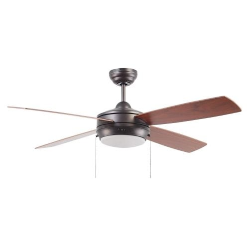 "Ellington Fans Laval-52 Modern 52"" 4 Blade Indoor Ceiling Fan - Blades and Light Kit Included"
