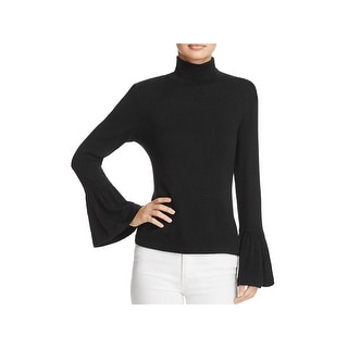 Beltaine Womens Brighton Turtleneck Sweater Knit Bell Sleeves