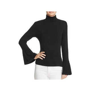 Beltaine Womens Brighton Mock Turtleneck Sweater Knit Bell Sleeves