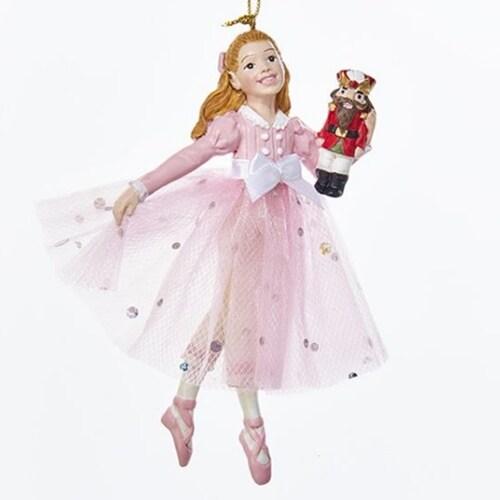 Kurt Adler Pink Clara Christmas Ornament