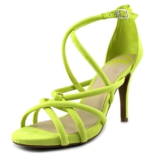 Fergalicious Hannah Women Open Toe Leather Green Sandals