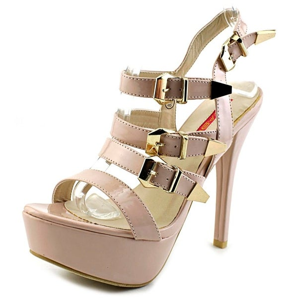 C Label Dainty 24 Women Open Toe Synthetic Pink Platform Sandal