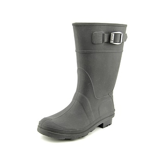 Kamik Raindrops Youth Round Toe Synthetic Black Rain Boot