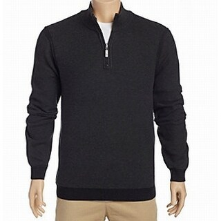 Tommy Bahama NEW Gray Mens Size Large L Reversible 1/2 Zip Sweater