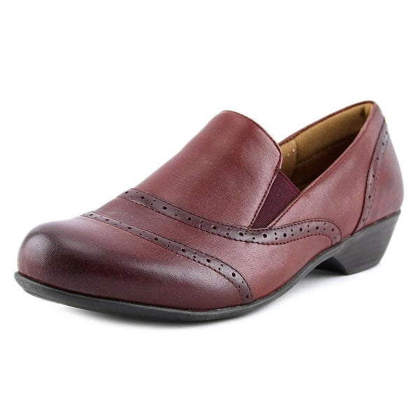 Comfortiva Rose Women Round Toe Leather Burgundy Loafer