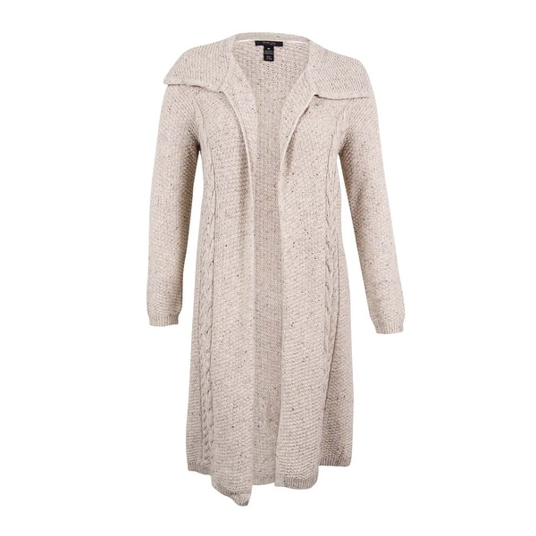 4074c990847 Shop Style   Co. Women s Plus Size Cable-Knit Duster Cardigan - Free ...