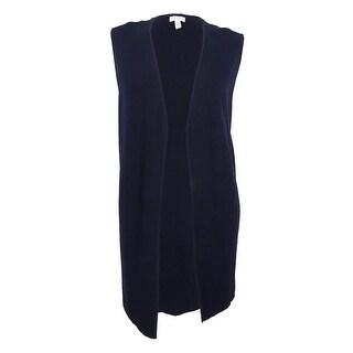 Charter Club Women's Plus Size Milano Vest (3X, Deepest Navy)