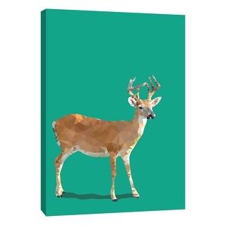 "PTM Images 9-109120  PTM Canvas Collection 10"" x 8"" - ""Fractal Deer"" Giclee Deer Art Print on Canvas"