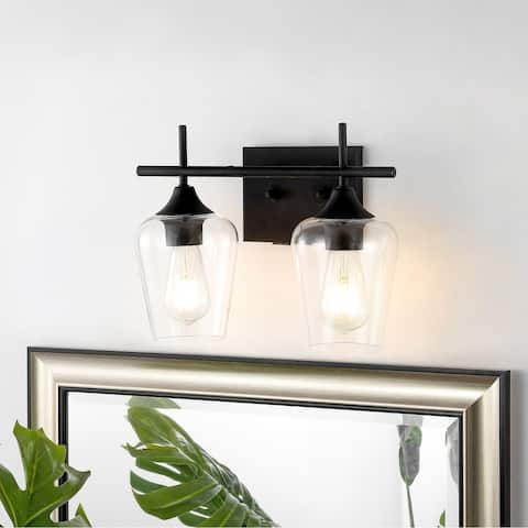 GetLedel 2-light Vanity Light Sconce With Clear Glass Shade