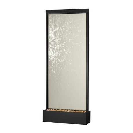 8' Waterfall Grande by Bluworld Black Onyx Frame w Clear Glass
