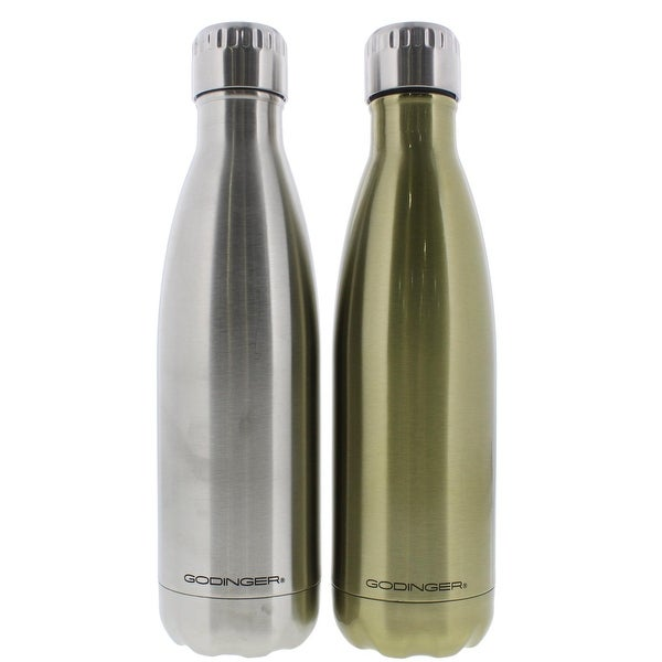 Godinger Water Bottle Stainless Steel Hot/Cold - stainless/shiny gold - 17 oz.