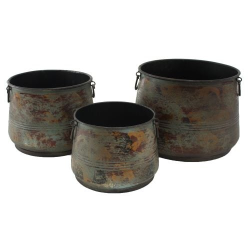 Aspire Home Accents 6296 Renley Decorative Planters (Set of 3) - Green