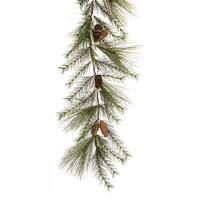 Pack of 2 Green and Brown Pine Cone Artificial Decorative Garlands 72""