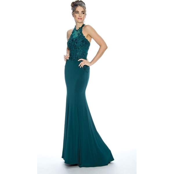 Stella Couture Halter Neck Formal Prom Long Dress. Opens flyout.