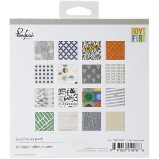 """Pinkfresh Studio Single-Sided Paper Pack 6""""X6"""" 32/Pkg-Boys Fort"""