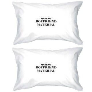 Boyfriend Material 100 Cotton Pillow Case Cute Gift Idea For Couple