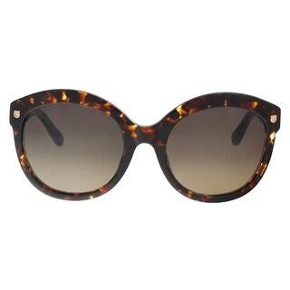 Salvatore Ferragamo SF677S 214 Tortoise Plastic Round Sunglasses - 55-20-135