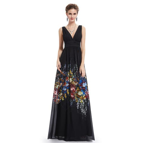 bacfbdc3c59 Ever-Pretty Women s Floral Print Chiffon Evening Prom Party Maxi Dress 08724