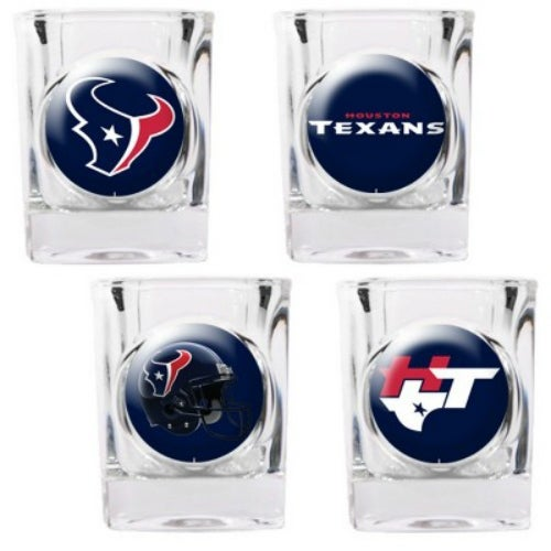 """""""Great American Products Houston Texans Shot Glass Set 4pc Collectors Shot Glass Set"""""""