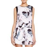 Aqua Womens Pullover Top Sleeveless Printed