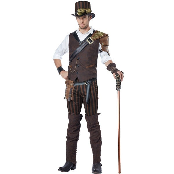 California Costumes Steampunk Adventurer Adult Costume - Brown